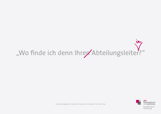 """Plakat """"Abteilungsleiterin"""""""